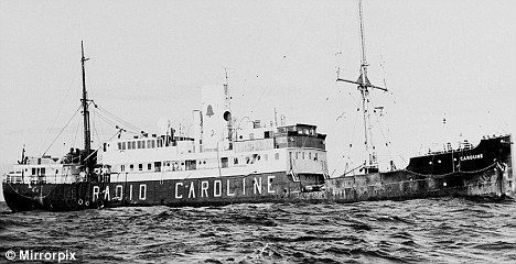 Uncharted waters: The Radio Caroline pirate radio ship broadcast music that could not be heard on landlocked stations