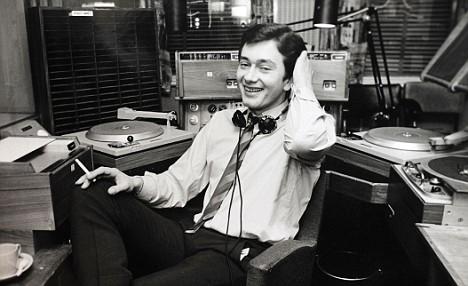 Next move: Tom Edwards in the Radio 1 studio in 1968